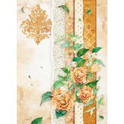 Flowers For You Ocher Rice Paper - Stamperia