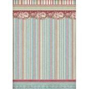 Striped Wallpaper Rice Paper - Stamperia