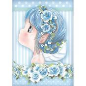 Light Blue Fairy Rice Paper - Stamperia