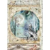 Cosmos Wolf & Moon Rice Paper - Stamperia