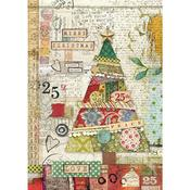 Patchwork Tree Rice Paper - Stamperia