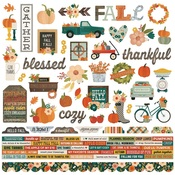 Fall Farmhouse Combo Sticker - Simple Stories