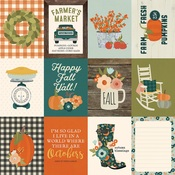 3x4 Elements Paper - Fall Farmhouse - Simple Stories
