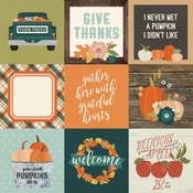 4x4 Elements Paper - Fall Farmhouse - Simple Stories