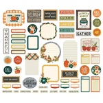 Fall Farmhouse Journal Bits & Pieces - Simple Stories