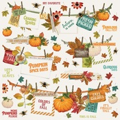 Autumn Splendor Banner Sticker - Simple Stories