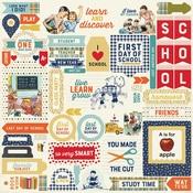 Scholastic Details Sticker Sheet - Authentique