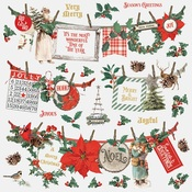 Country Christmas Banner Sticker - Simple Stories