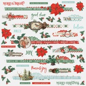 Country Christmas Border Sticker - Simple Stories