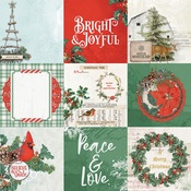4x4 Elements Paper - Country Christmas - Simple Stories