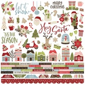 Holly Jolly Combo Sticker - Simple Stories