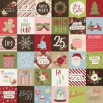 2x2 Elements Paper - Holly Holly - Simple Stories