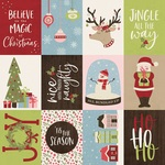 3x4 Elements Paper - Holly Holly - Simple Stories