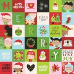 2x2 Elements Paper - Say Cheese Christmas - Simple Stories