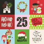 4x4 Elements Paper - Say Cheese Christmas - Simple Stories
