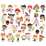 Say Cheese Christmas Happy Kids Bits & Pieces - Simple Stories