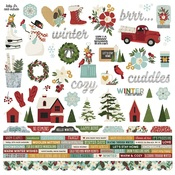 Winter Farmhouse Combo Sticker - Simple Stories