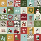 2x2 Elements Paper - Winter Farmhouse - Simple Stories