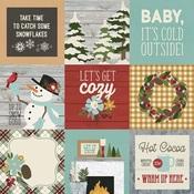 4x4 Elements Paper - Winter Farmhouse - Simple Stories
