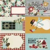 4x6 Elements Paper - Winter Farmhouse - Simple Stories