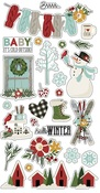 Winter Farmhouse Chipboard - Simple Stories