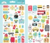 I ♥ Travel Mini Icon Sticker Sheets - Doodlebug
