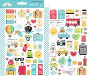I ♥ Travel Mini Icon Sticker Sheets - Doodlebug
