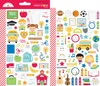 School Days Mini Icon Stickers - Doodlebug