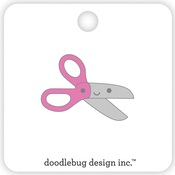 Pink Scissors Collectible Pins - Doodlebug