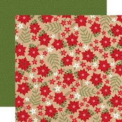 Holiday Floral Paper - My Favorite Christmas - Echo Park
