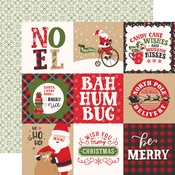 4X4 Journaling Cards Paper - My Favorite Christmas - Echo Park