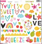 Squeeze The Day Chipboard Icons - Bella Blvd - PRE ORDER