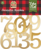 Gold Foil Decorative Numbers - My Favorite Christmas - Echo Park