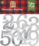 Silver Foil Decorative Numbers - My Favorite Christmas - Echo Park - PRE ORDER