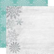Delightful Glittered Paper - Let It Snow - KaiserCraft