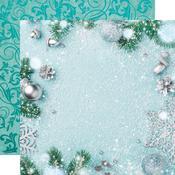 Wonderland Glittered Paper - Let It Snow - KaiserCraft