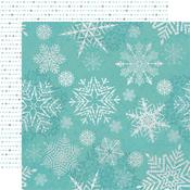Falling Snowflakes Glittered Paper - Let It Snow - KaiserCraft