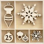 Let It Snow Wood Flourish Pieces - KaiserCraft
