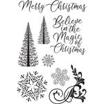 Let It Snow Clear Stamps - KaiserCraft