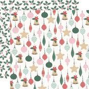 Bright Baubles Paper - Peppermint Kisses - KaiserCraft
