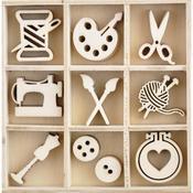 Crafternoon Wood Flourishes - KaiserCraft - PRE ORDER