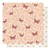 Butterfly Garden Paper - Willow - OneCanoeTwo