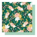 Ambrose Blooms Paper - Willow - OneCanoeTwo