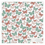 Willow Vellum Foiled Sheet - OneCanoeTwo