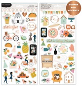 This Is Family Copper Foiled Sticker Sheets - Pebbles