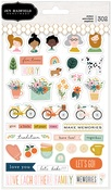 This Is Family Copper Foil Sticker Book - Pebbles