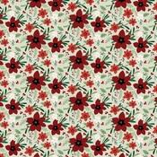 Joyful Floral Paper - A Cozy Christmas - Echo Park