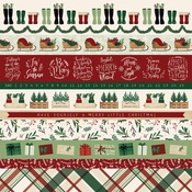 Border Strips Paper - A Cozy Christmas - Echo Park