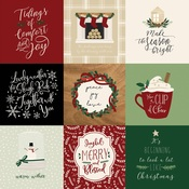 4X4 Journaling Cards Paper - A Cozy Christmas - Echo Park