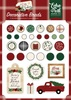 A Cozy Christmas Decorative Brads - Echo Park Echo Park Paper-Decorative Brads. A fun addition to any paper crafting project! This package contains 25 decorative brads and five tags on one 5x4-1/4 inch sheet.